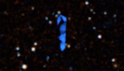 Giant Blue UFO Discovered On Google Sky Map 2015, UFO Sightings