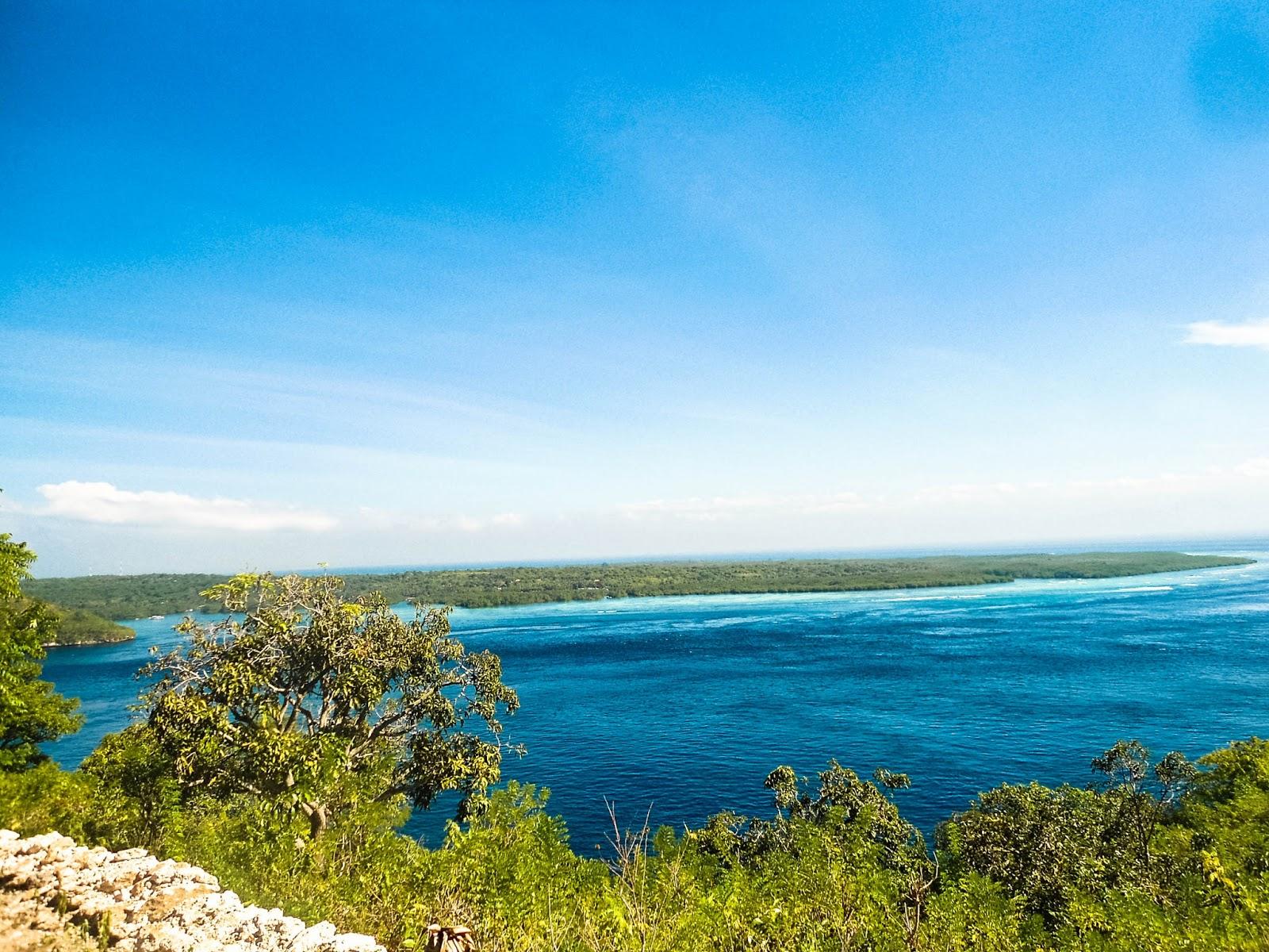 View Ceningan dan Lembongan Lokasi Tanah yang dijual area Gamat Nusa Penida Bali
