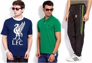Below Rs.999 Men's Sports Wear (T-Shirts, Polos, Track Pants, Shorts, Caps) starts from Rs.104 @ Flipkart