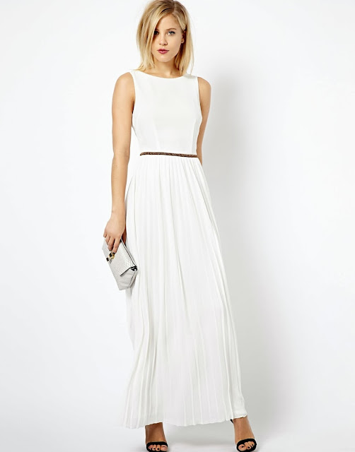 white full length dress