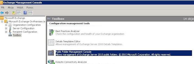 Exchange 2010 – Folder publiczny z mailem