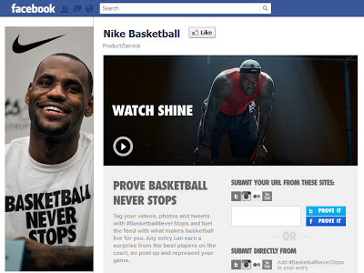 Nike 'Basketball Never Stops' Campaign is an Example of Creative Facebook Contests