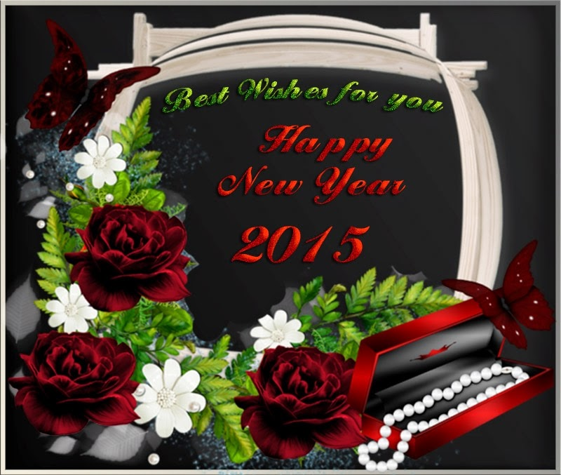 Flowers Happy New Years Wishes Greeting Cards Images 2015