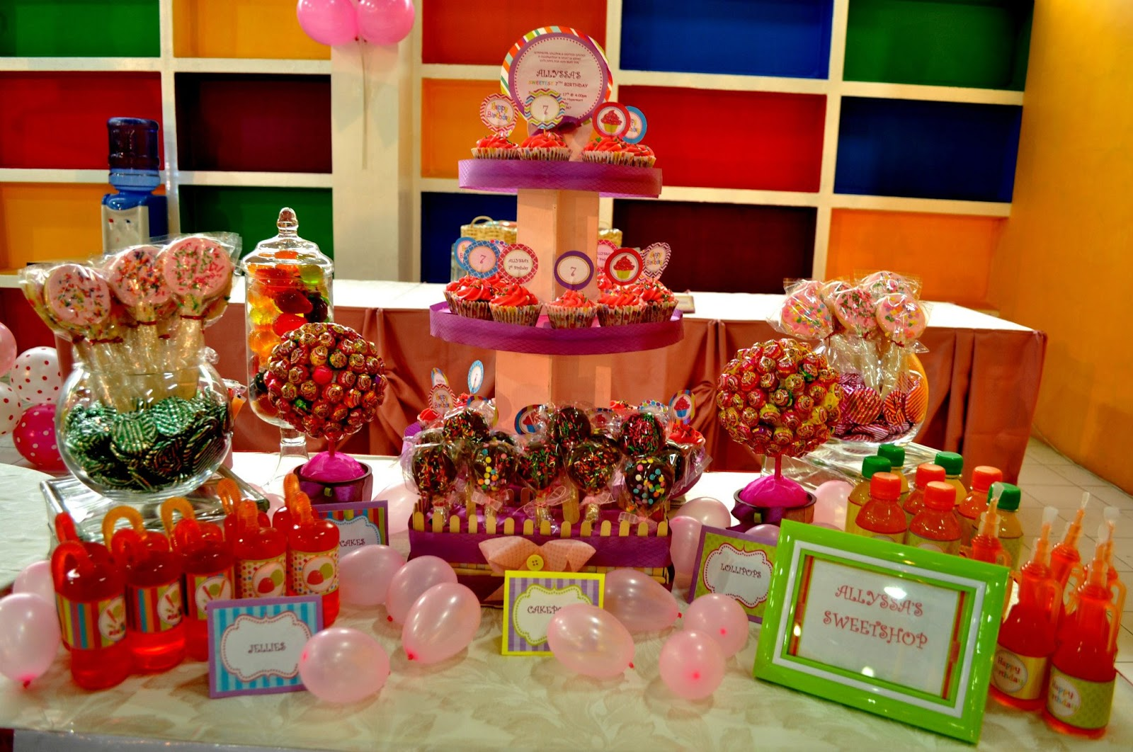 Artsy craftsy me candyland themed party for allyssa - Candyland party table decorations ...