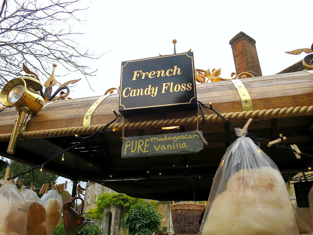 Winchester Christmas Market Stalls Festive Cathedral Vanilla Candy Floss