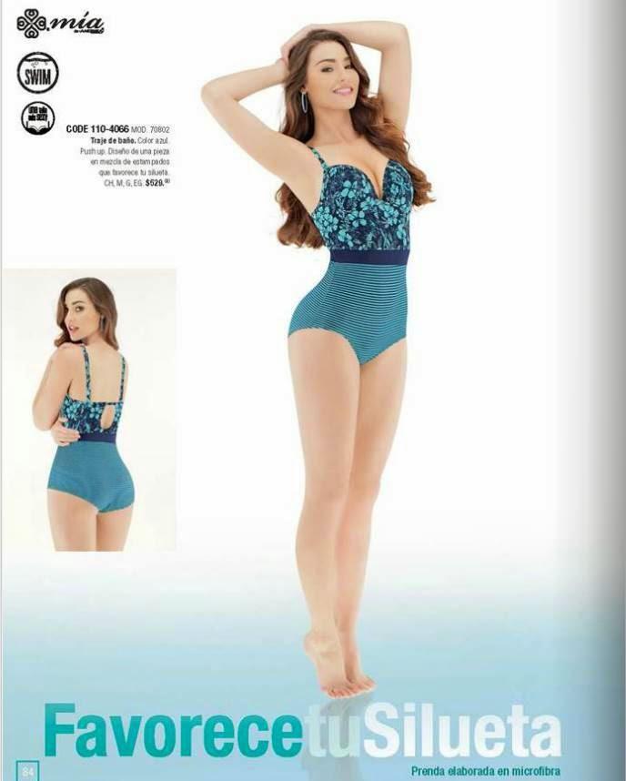 Trajes De Baño Verano Azul:ropa de baño color azul traje de baño de una