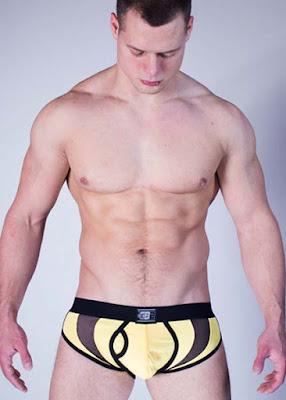 GBGB Wear Mens Underwear Evo Brief Ivan Lenko Yellow