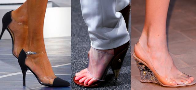 Прозрачные туфли - весна/лето 2013