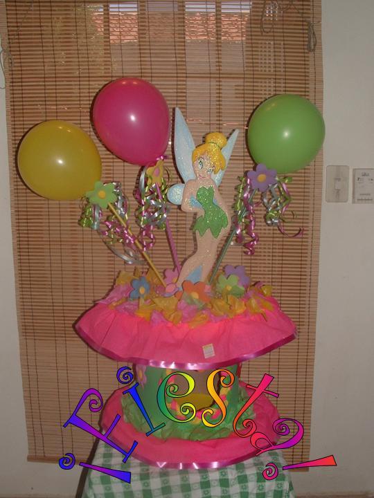 Centro de mesa para cumpleaños de tinkerbell - Imagui