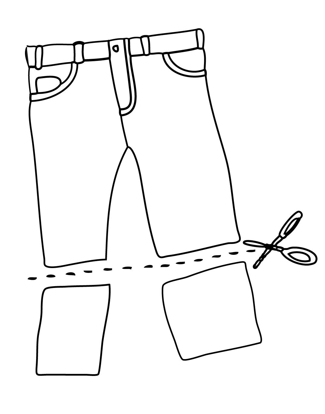 how to cut jeans in a interesting way