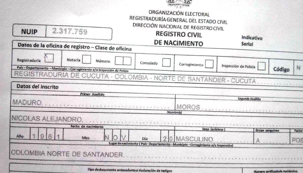 Política: Guillermo Cochez difunde supuesta partida de nacimiento ...