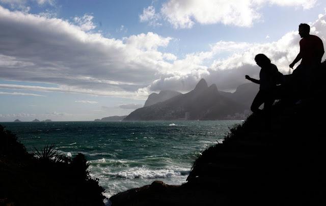 Fotografia, Rio de Janeiro, profissional, o globo, praia, arpoador, por do sol, silhueta