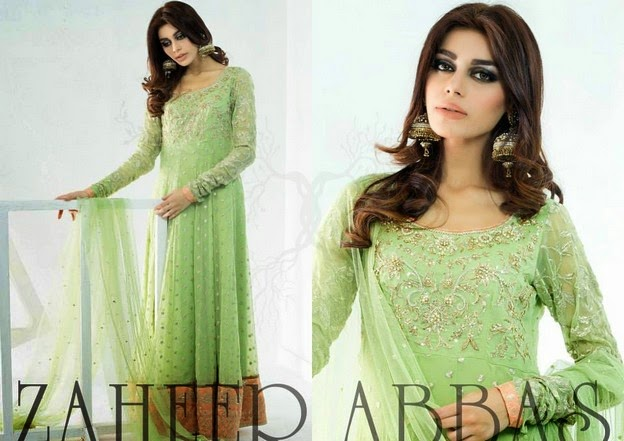Zaheer Abbas Eid Collection 2014 wwwfashionhuntworldblogspot 2  - Zaheer Abbas Eid Collection 2014 For Women