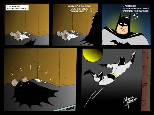 HQ - Batman mostrando ser o herói que é