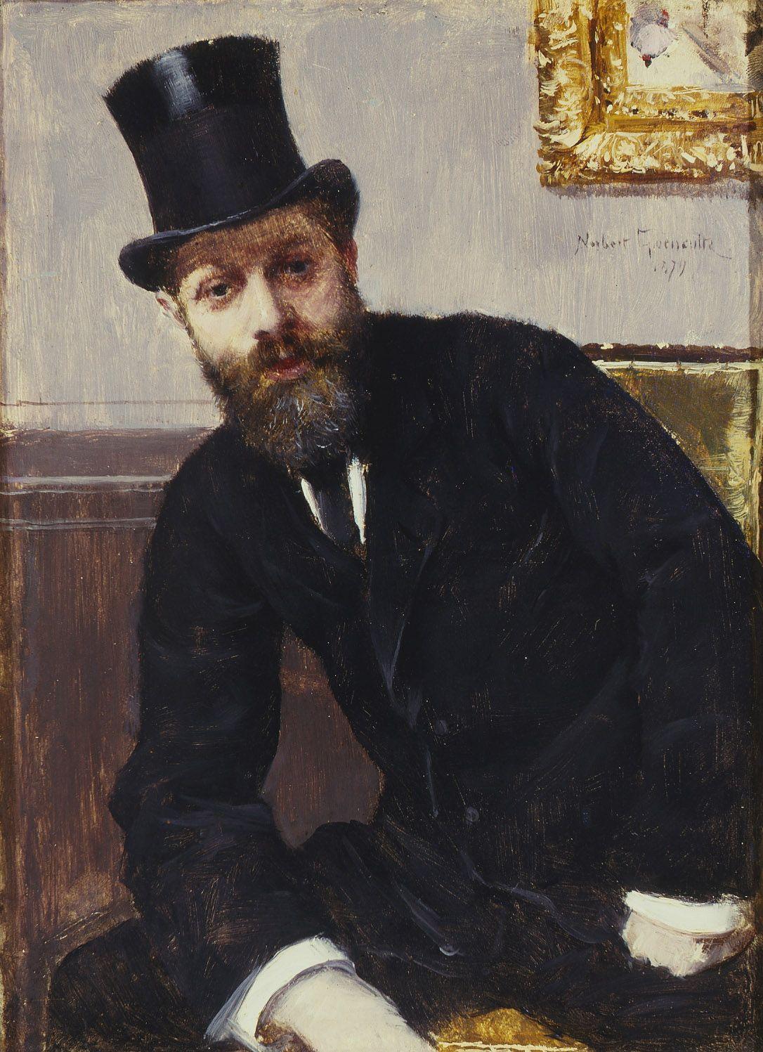 Norbert Goeneutte Portrait of Hippolyte Fortin