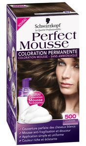 Perfect mousse coloration permanente cheveux schwarzkopf