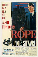Poster of James Stewart holding a piece of rope from that film