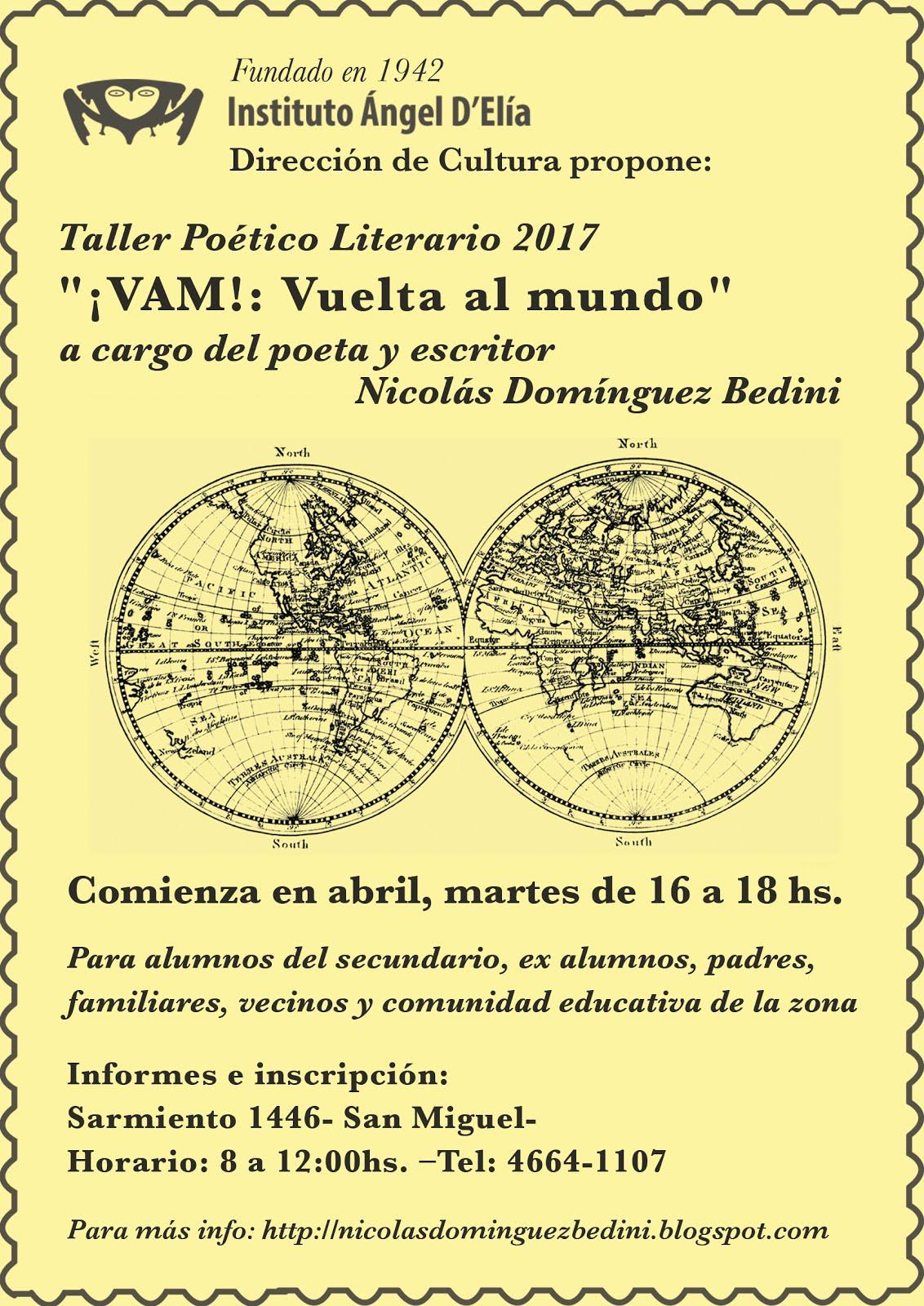 Taller de lecturas ¡VAM! 2017 en Instituo Ángel D´elía, San Miguel