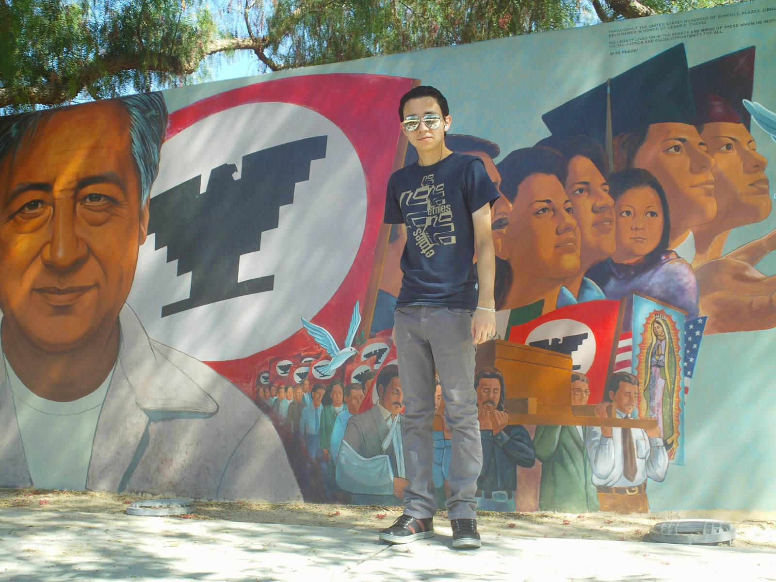 1000 images about ufw on pinterest for Cesar chavez mural