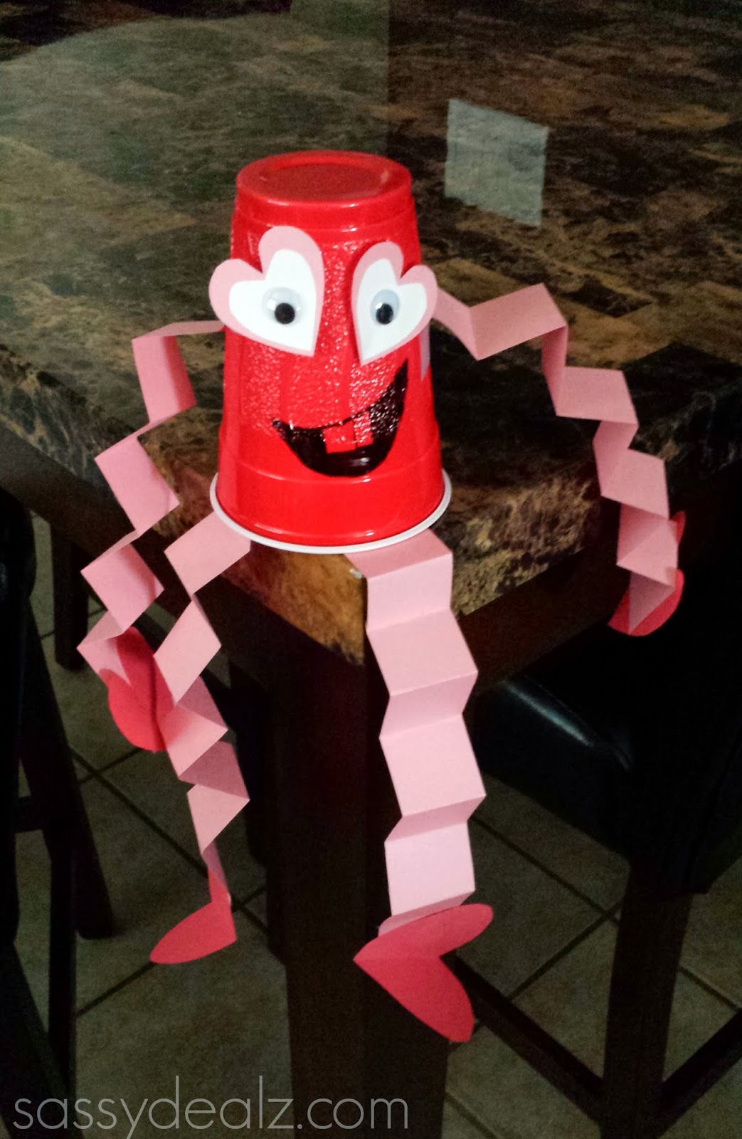 cup valentine man craft
