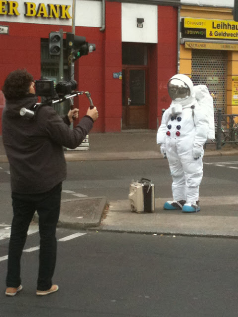 astronaut in street berlin