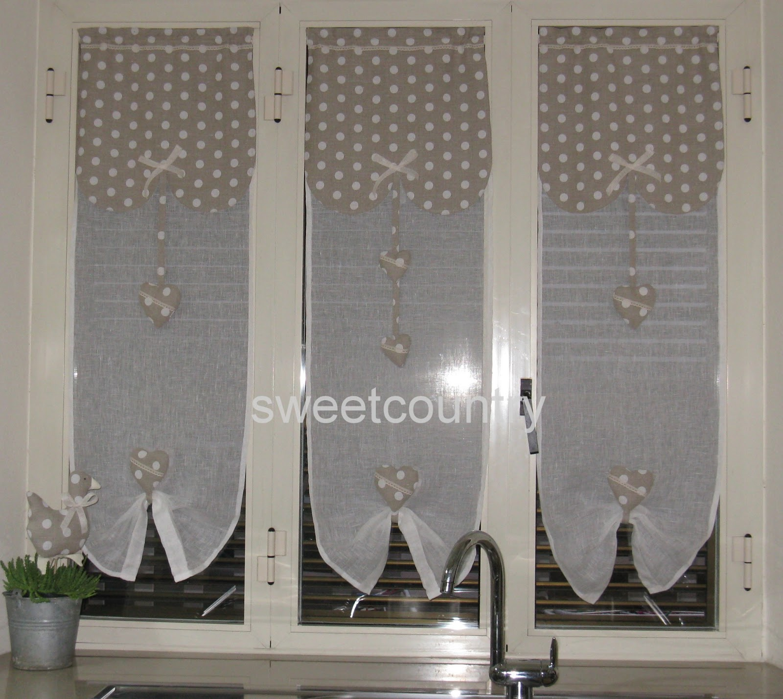 Sweetcountry tende country - Tende da cucina per porta finestra ...