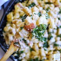 Mac and Cheese with Kale and Bacon | by Life Tastes Good