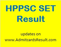 HP SET Result Score card