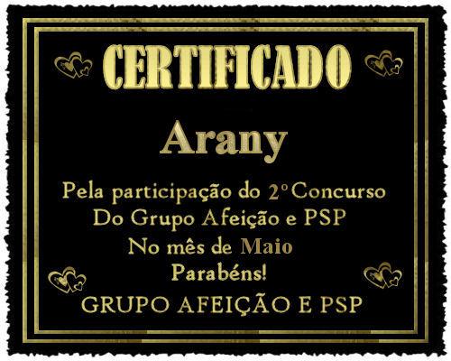 Certificado do 2º Concurso do Grupo Afeição