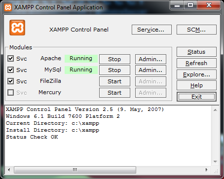 Cara Restart Server Apache XAMPP di Windows