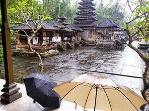 Temple in the rain