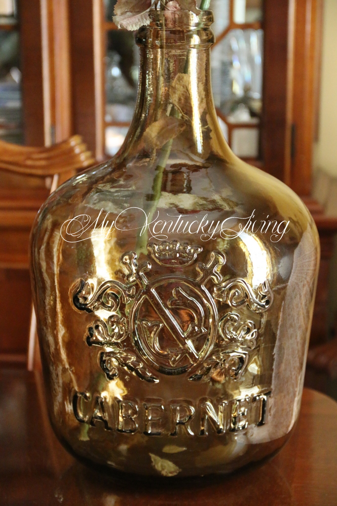 large glass jug or bottle