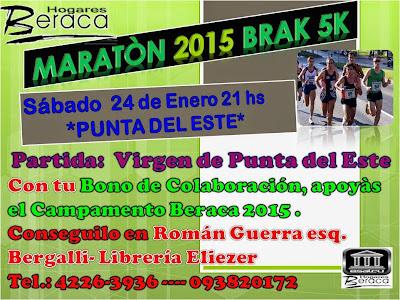 5k y 2k Maratón BRAK (Beraca, Punta del Este, 24/ene/2015)