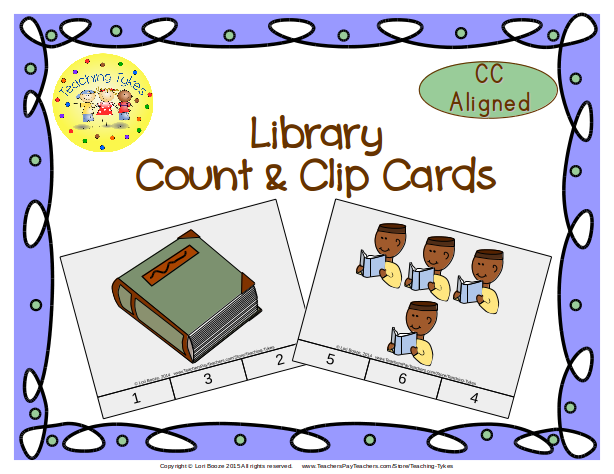 https://www.teacherspayteachers.com/Product/Library-Count-Clip-Cards-Common-Core-Aligned-903191