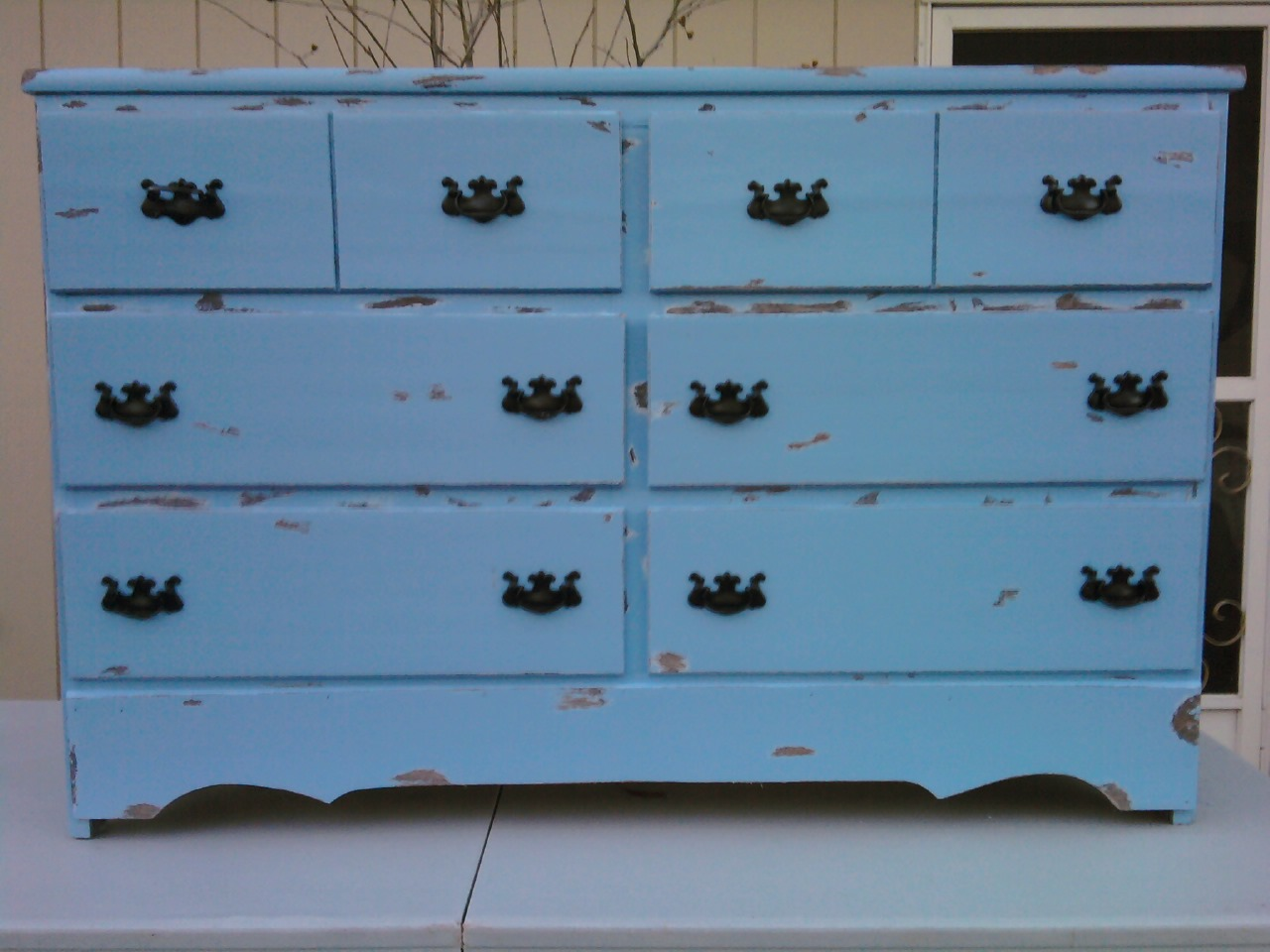 a new leaf furniture shabby chic blue dresser sold. Black Bedroom Furniture Sets. Home Design Ideas
