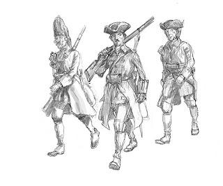 Boceto pintura de soldados en Cartagena de Indias blas de Lezo 2