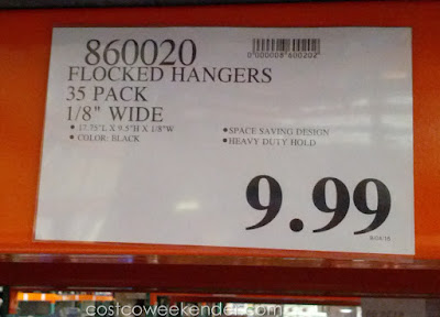 Deal for a 35 pack of Flocked Non-Slip Hangers at Costco
