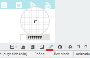 Add-on dò mã màu Website trên Firefox