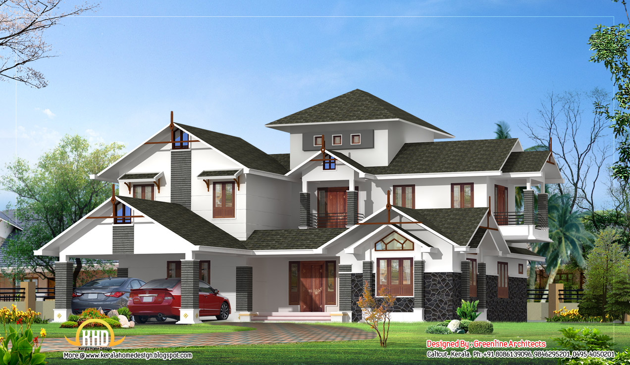 February 2012 kerala home design and floor plans for Luxary home plans