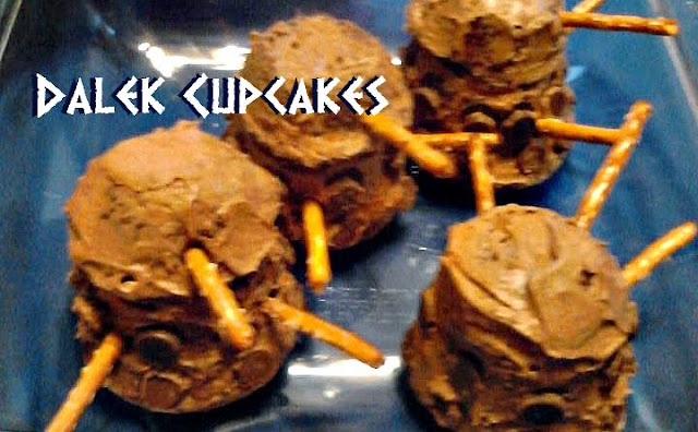 Dalek cupcakes | Doctor Who Party Ideas for Whovian Moms