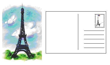 Nous apprenons le français: Écrire une carte postale - Expression Écrite