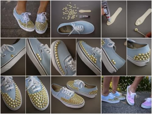Mille idee casa tutorial per realizzare scarpe con le borchie for Mille idee per la casa