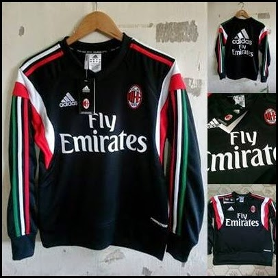 Sweater GO Ac Milan Hitam