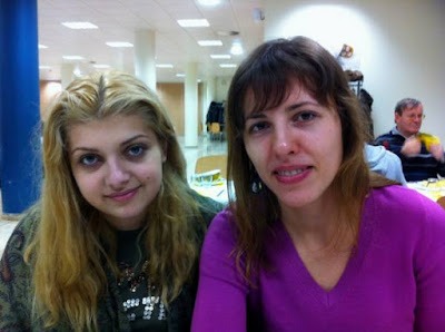 La délégation ukrainienne avec Evgeniya Doluhanova (2269) et Tatiana Kostiuk (2275) - Photo © Chess & Strategy