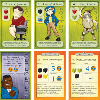 Worker Placement Kickstarter Board Game Review Cards