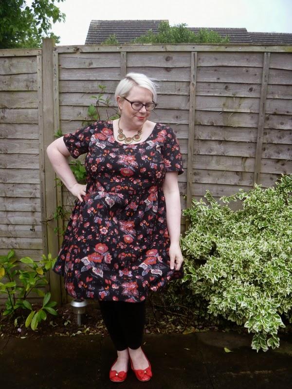 Asos Curve Floral Smock Dress Natty Nikki Plus Size Blogger