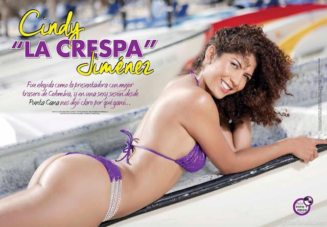 "Cyndy ""La Crespa"" Jiménez Bikini Superclick Tvynovelas Septiembre 2015"