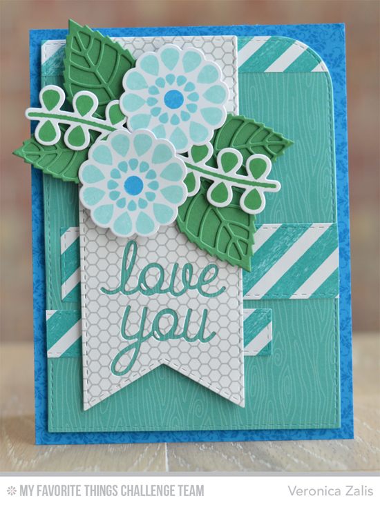 Floral Love You Card from Veronica Zalis featuring the Miss Tiina Build-able Blooms stamp set and dies