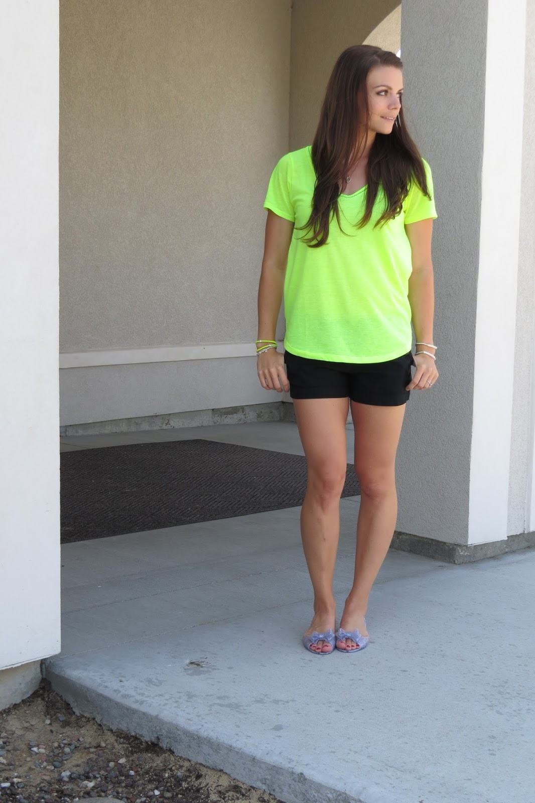 Neon Top and Glitter Jellies
