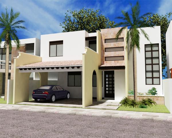 Fachadas mexicanas y estilo mexicano february 2012 for Frentes de casas modernas de dos pisos